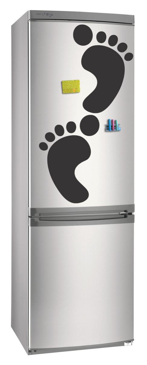 Магнитно-грифельная (меловая) доска на холодильник для записей и рисования мелом След (набор) размер 30х42 см