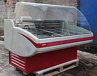 Холодильная витрина среднетемпературная «Cryspi Gamma» 1.5 м. (Россия), Широкая выкладка, Б/у , фото 1