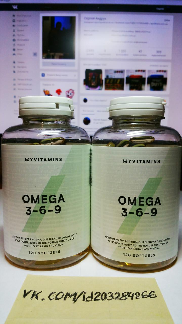 Омега 3-6-9, Myprotein Omega 3-6-9 120 капс