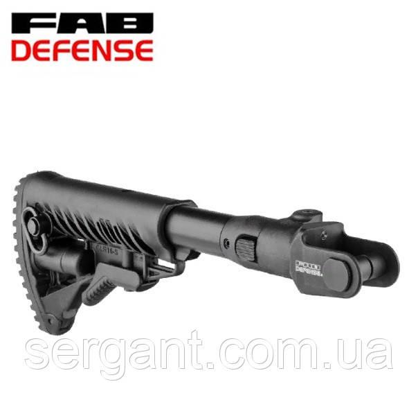 Складной телескопический приклад Fab Defense М4-AKMS (GLR-16) для АКС-47 и АКМС с складным вниз прикладом