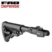 Складной телескопический приклад Fab Defense М4-AKMS (GLR-16) для АКС-47 и АКМС с складным вниз прикладом, фото 1