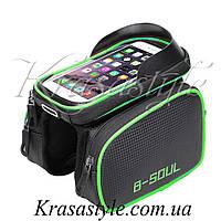 Двухсторонняя сумка-бардачок B-Soul + чехол под смартфон