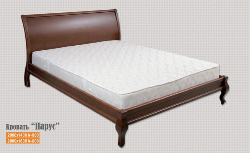 Кровать Парус 1,6 м. (изголовье - Н 1000) (цвет в ассортименте)