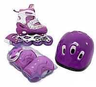 Детские ролики - Комплект Раздвижных Роликов Maraton Combo - Фиолетовые 34-37 р, 30-33 р.