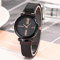 Жіночий наручний годинник STARRY SKY Watch кварцовий з металевим браслетом Чорний (SUN3501)