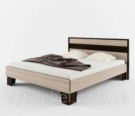 Ліжко Скарлет 1400+ламелі дуб сонома/венге магія (СОКМЕ)