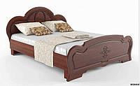 Кровать Каролина 1600 б/матр.+ламели береза полярная/золотое дерево (СОКМЕ)