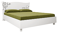 Кровать Богема 1600  непод. глянец белый (Миромарк)