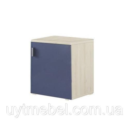 Тумба Доміно нижня 400 дуб крафт білий/фіолет синій (Сокме)