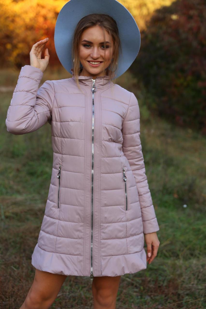 Женственная куртка весна-осень Аида цвет пудра