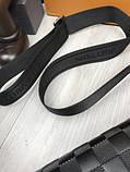 Кожаная мужская сумка мессенджер Louis Vuitton черная натуральная кожа сумка на плечо Луи Виттон реплика, фото 5