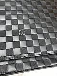 Кожаная мужская сумка мессенджер Louis Vuitton черная натуральная кожа сумка на плечо Луи Виттон реплика, фото 2