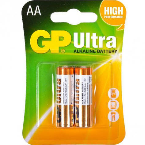 Батарейка GP 15 AUHM-2 UE2 щелочная LR6 U. AA Alkaline Ultra     GP-027581, фото 2