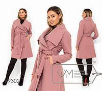 Кашемировое пальто на запах с воротником апаш с 48 по 54 размер, фото 1