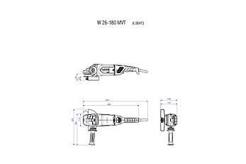 W 26-180 MVT КШМ 2600 Вт, картонна коробка, фото 2