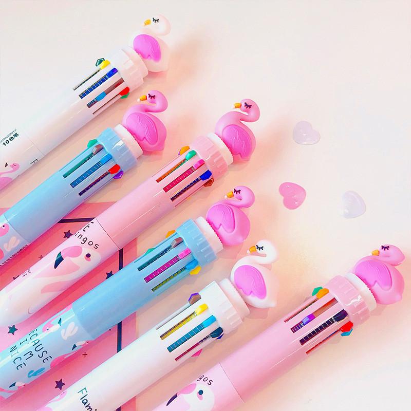 Ручка с Фламинго на 8 цветов