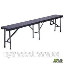 Лавка складна Джилі RBK-180 180/90*25*43 пластик rattan black (АМФ)