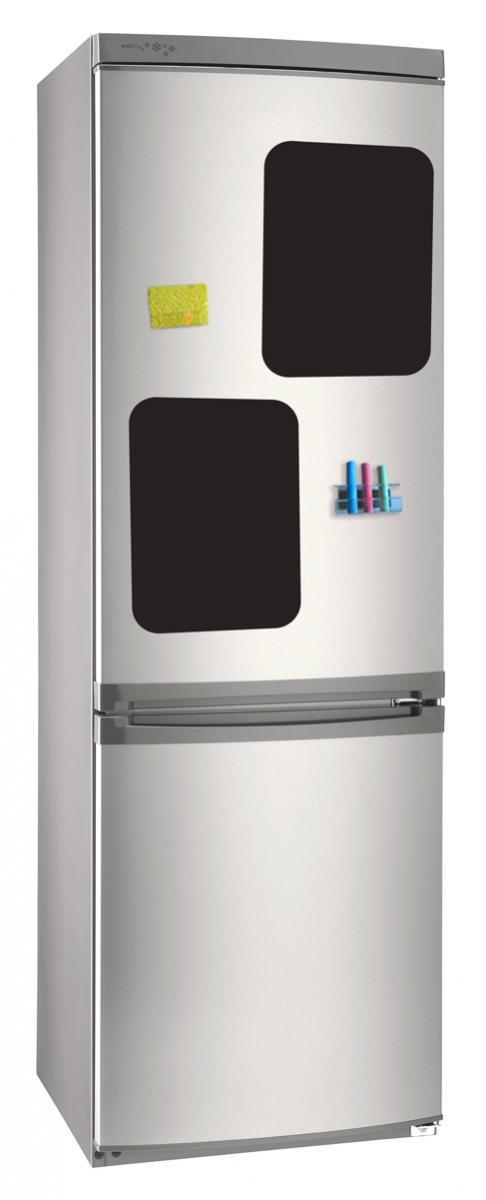 Магнитно-грифельная (меловая) доска на холодильник для записей и рисования мелом Простое общение (набор)30х42