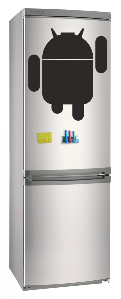 Магнитно-грифельная (меловая) доска на холодильник для записей и рисования мелом Андроид размер 42х58 см