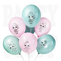 Латексные шары Куклы Лол ассорти 12'' (30 см), 100 шт