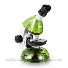Микроскоп SIGETA MIXI 40x-640x GREEN (с адаптером для смартфона