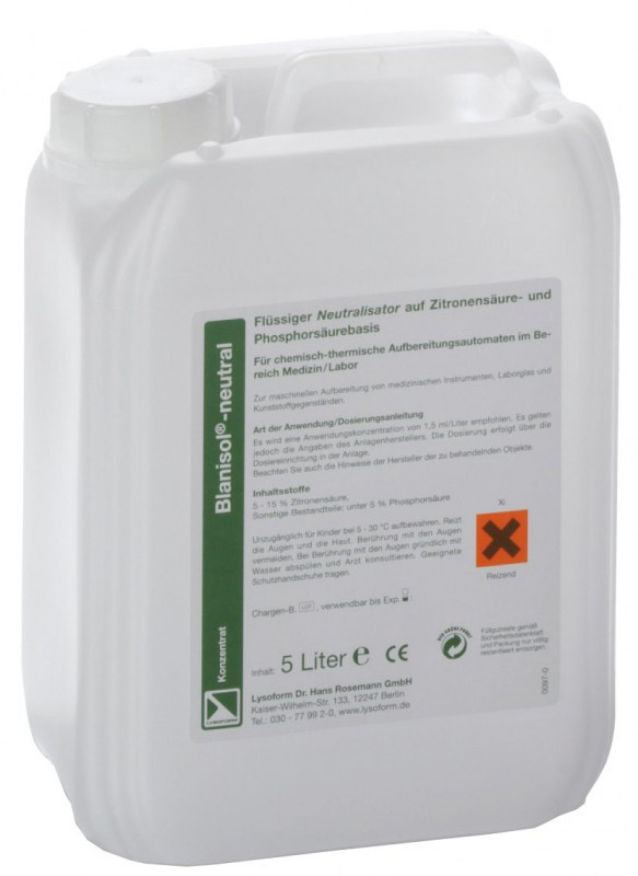 Средство дезинфекции Бланизол нейтраль Лизоформ - 5л.