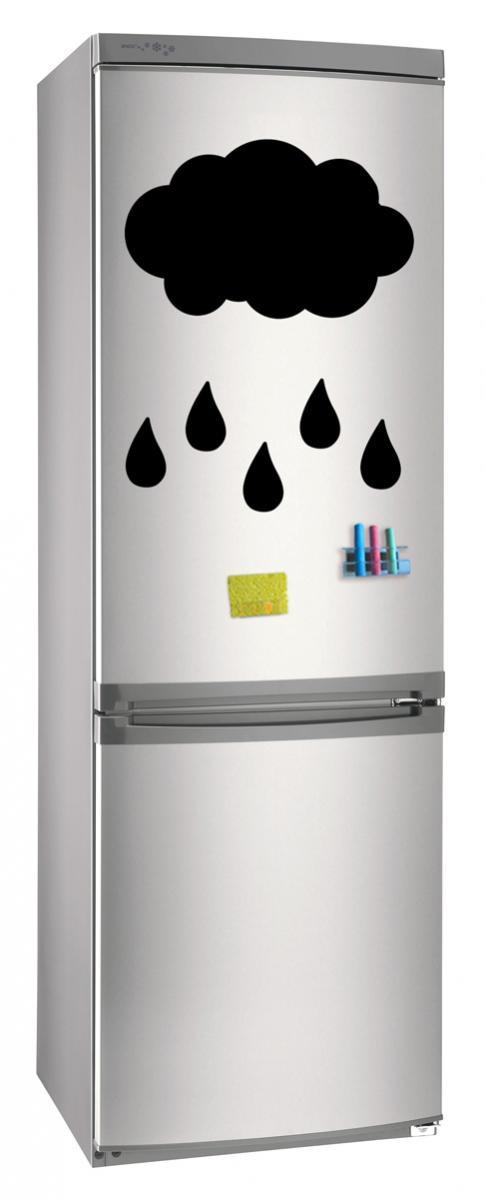 Магнитно-грифельная (меловая) доска на холодильник для записей и рисования мелом Дождь размер 42х58 см