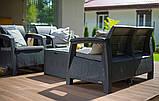 Комплект садових меблів зі штучного ротангу CORFU BOX графіт ( Allibert ), фото 10