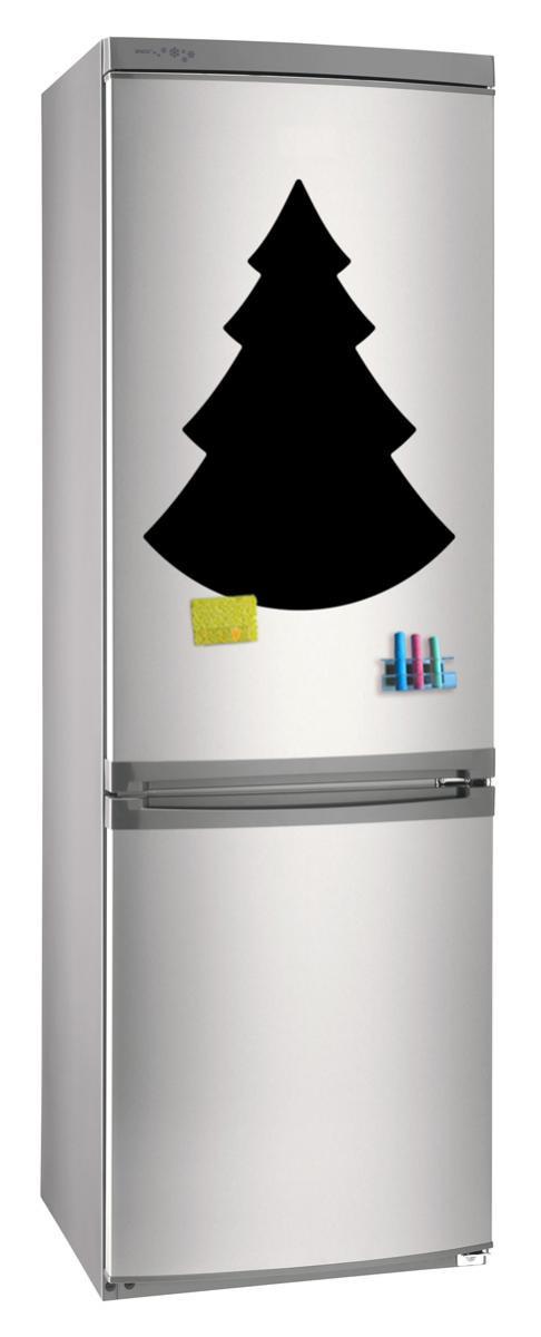 Магнитно-грифельная (меловая) доска на холодильник для записей и рисования мелом Елка_1 размер 42х58 см