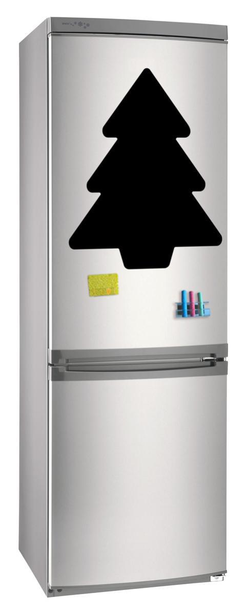 Магнитно-грифельная (меловая) доска на холодильник для записей и рисования мелом Елка_2 размер 42х58 см
