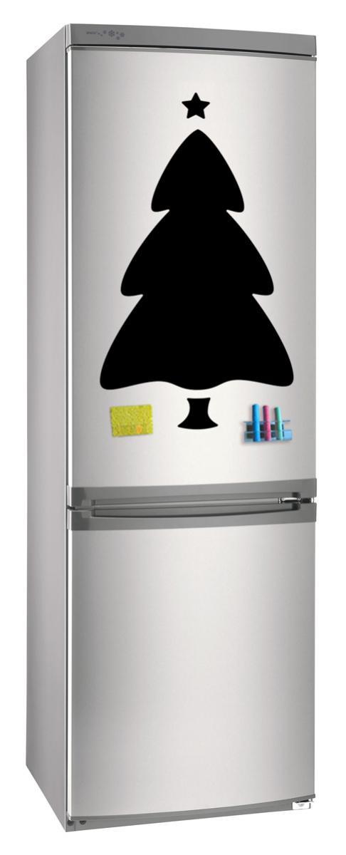 Магнитно-грифельная (меловая) доска на холодильник для записей и рисования мелом Елка_3 размер 42х58 см
