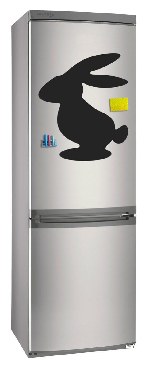 Магнитно-грифельная (меловая) доска на холодильник для записей и рисования мелом Заяц размер 42х58 см