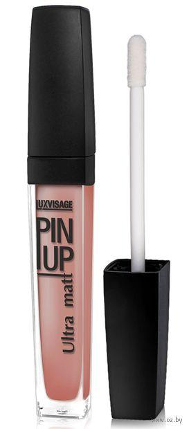 Матовая жидкая помада LuxVisage Pin Up Ultra Matt nude - Peony Pop