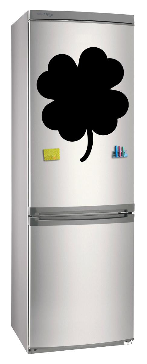 Магнитно-грифельная (меловая) доска на холодильник для записей и рисования мелом Клевер размер 42х58 см