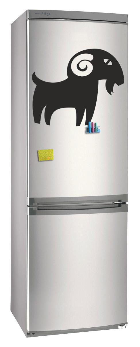 Магнитно-грифельная (меловая) доска на холодильник для записей и рисования мелом Коза_2 размер 42х58 см