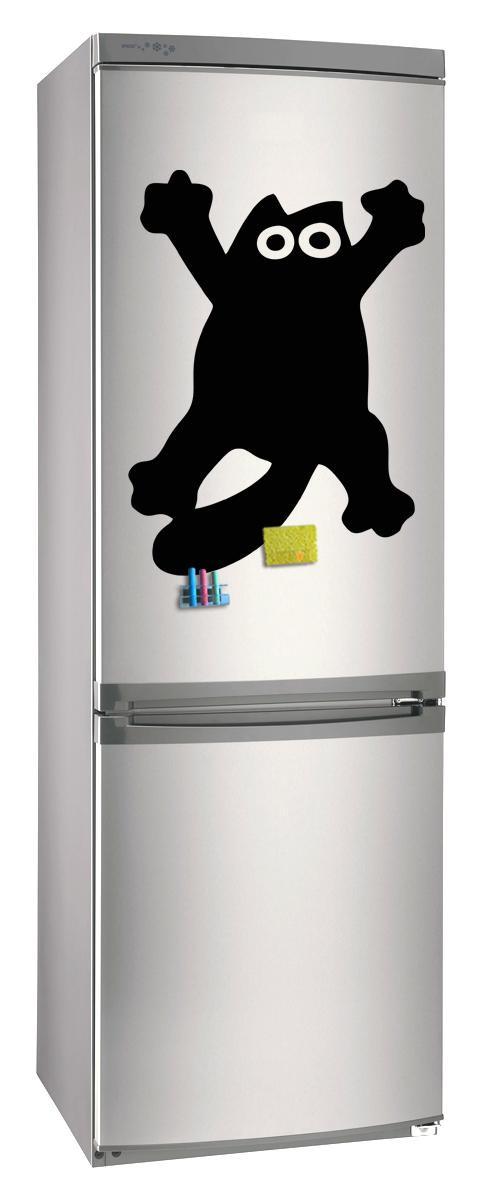 Магнитно-грифельная (меловая) доска на холодильник для записей и рисования мелом Кот Саймон размер 42х58 см