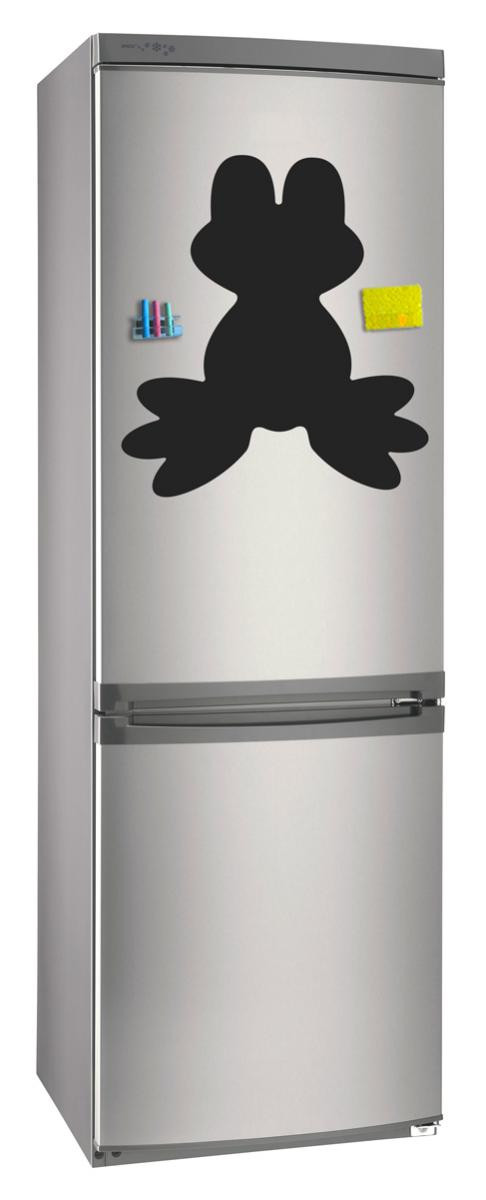 Магнитно-грифельная (меловая) доска на холодильник для записей и рисования мелом Лягушка размер 42х58 см