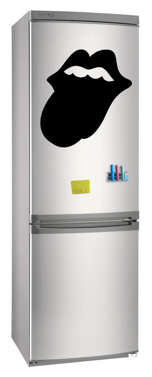 Магнитно-грифельная (меловая) доска на холодильник для записей и рисования мелом Язык размер 42х58 см