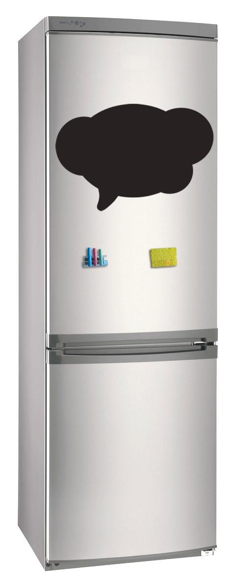 Магнитно-грифельная (меловая) доска на холодильник для записей и рисования мелом Облако размер 42х58 см