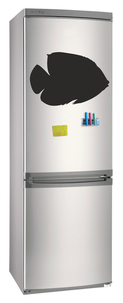 Магнитно-грифельная (меловая) доска на холодильник для записей и рисования мелом Рыба размер 42х58 см