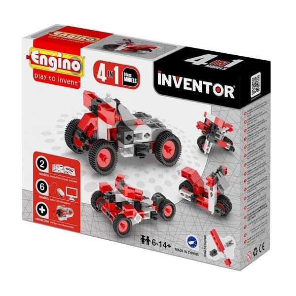 Конструктор дитячий Engino Inventor 4 в 1 Мотоцикли 0432