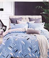 518051219ec2 Постельное белье двухспального размера Koloco Бежего - синяя ...