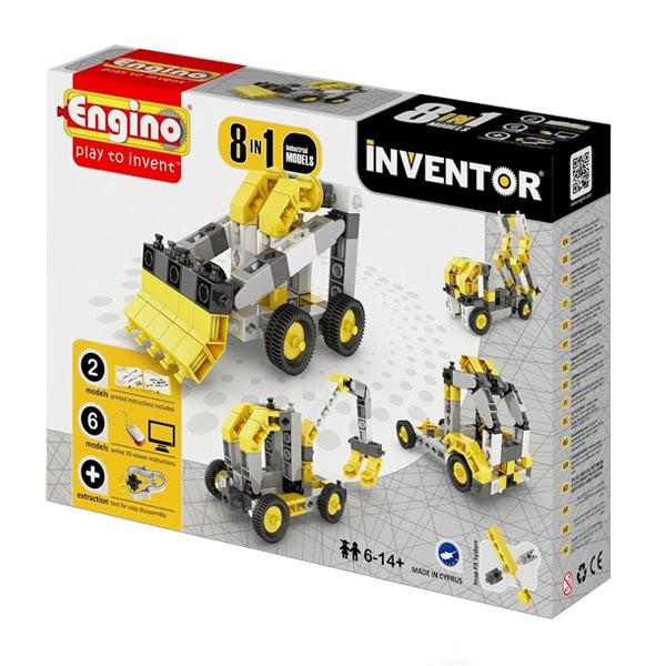 Конструктор Engino серии Inventor 8 в 1 – Строительная техника 0834