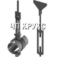 Подвеска жесткая горизонтальных трубопроводов Dн 57-530 мм ТС-677.00.000