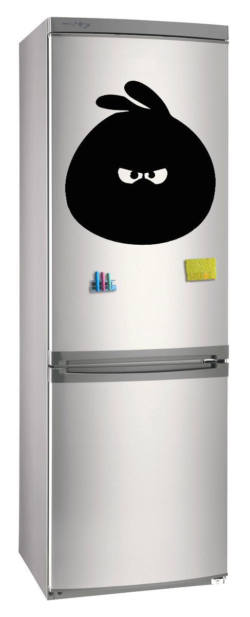 Магнитно-грифельная (меловая) доска на холодильник для записей и рисования мелом Энгри Бердз размер 42х58 см