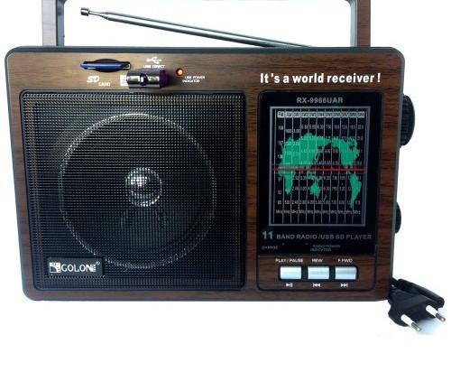 Портативная акустическая система GOLON RX-9966, Радиоприемник, Радио, Аккумуляторный радиоприемник
