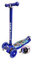 Трехколесный детский самокат синий 21Scooter Disney MAXI PRINT - Щенячий патруль