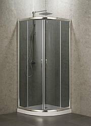 EGER BALATON душевая кабина 90*90*185  см, профиль хром,стекло тонированное 6мм (стекла+двери)