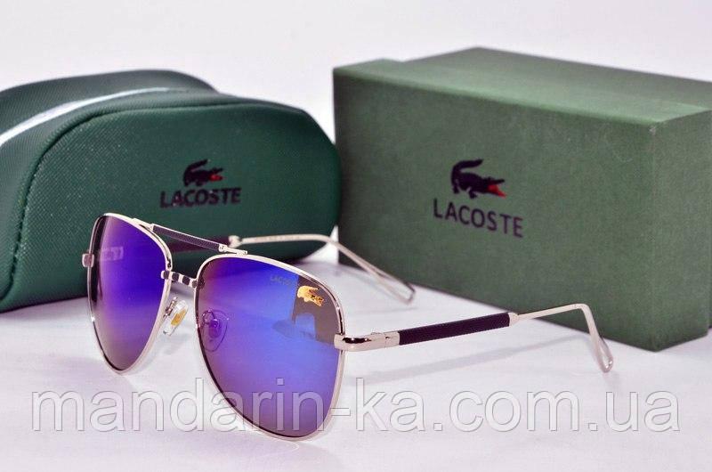 Очки унисекс солнцезащитные Lacoste Лакосте  сиреневые (реплика)