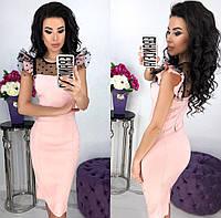 Красивое женское платье стрейч джинс с 42 по 48 рр